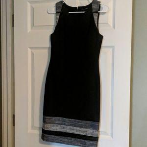 Lined sleeveless business dress